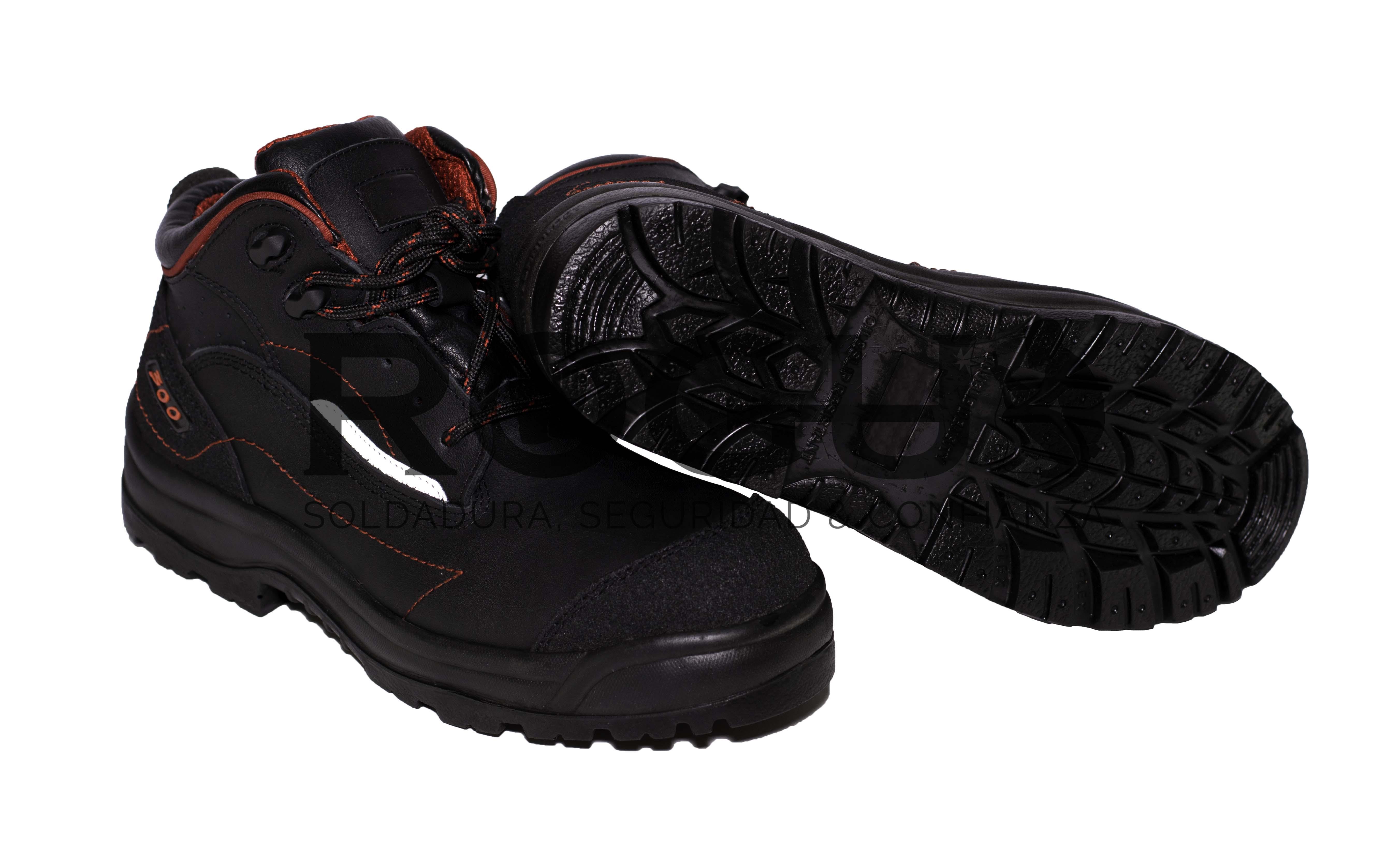 Bota de Seguridad 300 Negro Rojo 2